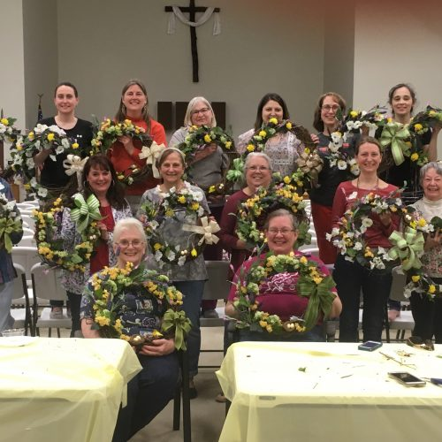 Ladies of Light, Guinston's Women's Ministry, Makes Wreaths